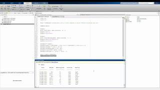 Matlab Basics: Introduction to tables
