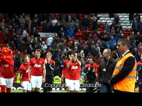 Ryan Giggs Manager's Speech + Nemanja Vidic + Lap Of Honour Manchester United 3-1 Hull