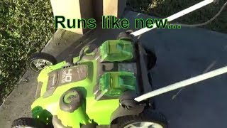 GreenWorks Lawn Mower One Year Review