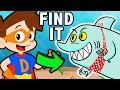 Find The SHARKS! 🦈🌊 Drew Underwater Adventures Compilation! 🦈🌊| Find It Games | Cool School