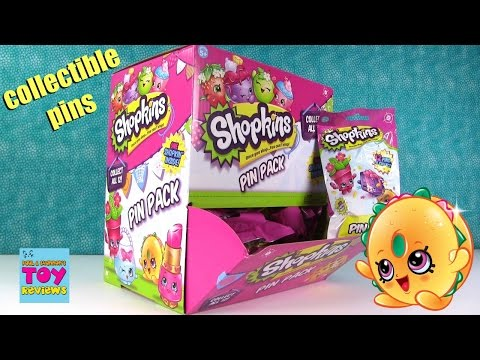 Shopkins Pin Pack Collectible Blind Bag Figure Toy Opening | PSToyReviews