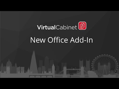 Virtual Cabinet | New Office Addin