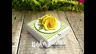 Easy Origami Rose Box Toppers