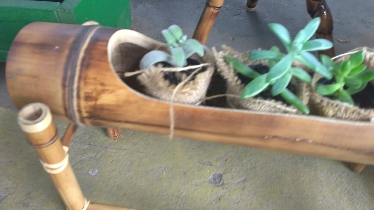Artesanato Com Cd Velho ~ Artesanato com bambu excelente YouTube