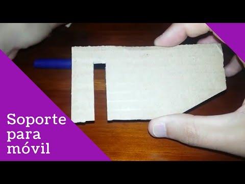 Como hacer un soporte para móvil casero y muy fácil