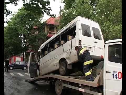 Авария в центре Кишинева