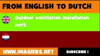 NEDERLANDS = ENGELS = Installeren van ventilatie installaties voor buitenopstelling