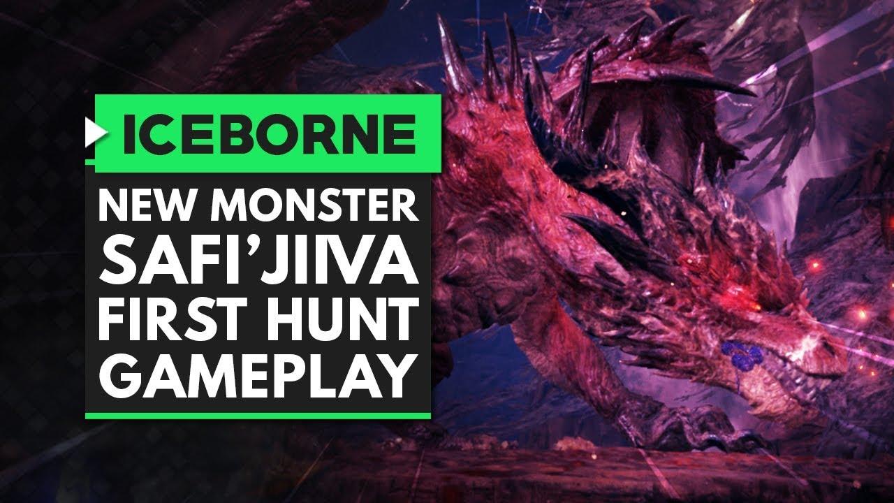 Monster Hunter World Iceborne First Safi Jiiva Hunt Gameplay