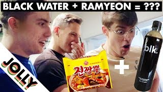 WHAT HAPPENS WHEN YOU COOK NOODLES IN BLACK WATER?!!