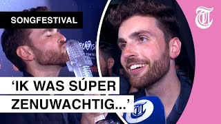 Dolgelukkige reactie Duncan Laurence na winnen Songfestival