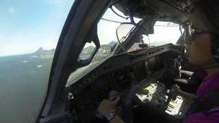 Comandante Betnia aos comandos de um Embraer 190 da Azul - Dia da Mulher
