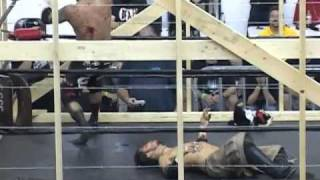 Jc bailey vs Jun kasai 12 foot cage,Bed of nails