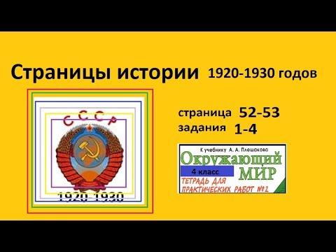 Страницы истории 1920-1930 г. (окр. мир 4 класс Тихомирова)