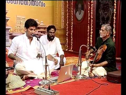 Valachi (Navaraga varnam ) Vijay Yesudas @Devasthanam Dakshinamurthi Music Fest in 2013