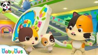 Video Baby Kitten's Shopping Mall Trip | Be Careful on the Escalator | Kids Safety Tips | BabyBus download MP3, 3GP, MP4, WEBM, AVI, FLV Juli 2018
