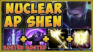 UHH RIOT?? FULL AP SHEN ULT 100% GIVES TOO MUCH SHIELDING! SHEN TOP GAMEPLAY! - League of Legends