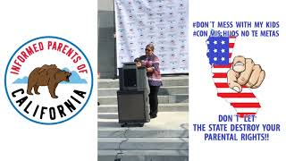 Samuel Figueroa, 10 years old, speaking at the Sacramento Rally on March 28th, 2019
