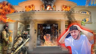 my house caught on fire & what I saw will shock you...