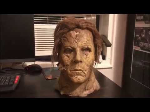Halloween 2 Rob Zombie Mask.Halloween 2 Rob Zombie Dela Torre The Aged Myers Mask Unboxing And Review