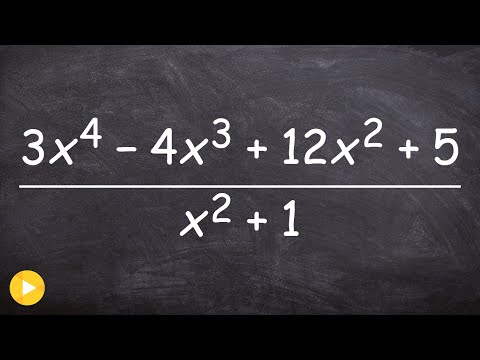 How to divide two polynomials using long division