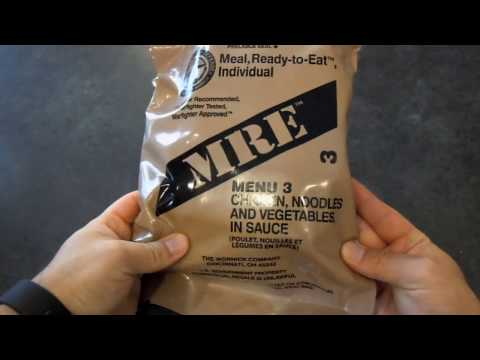 MRE Review - Menu No. 3 - Chicken Noodle and Vegetables in Sauce