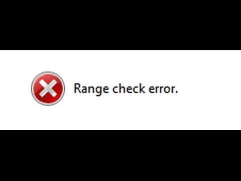 Как исправить ошибку Map Construction: Range Check error. (Решение!)