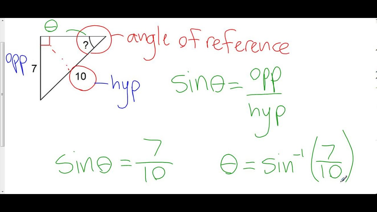 Finding A Missing Angle In A Right Triangle Using Primary Trigonometric  Ratios