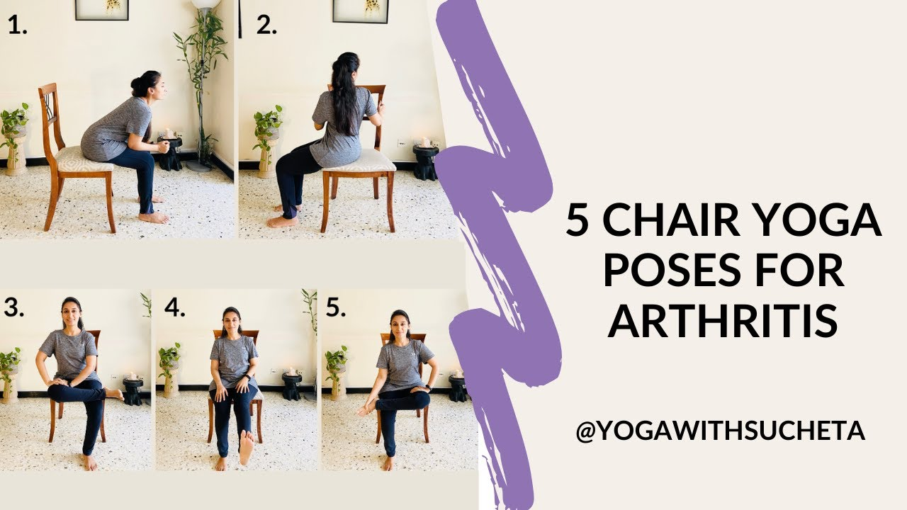 5 Chair Yoga poses for arthritis - YouTube