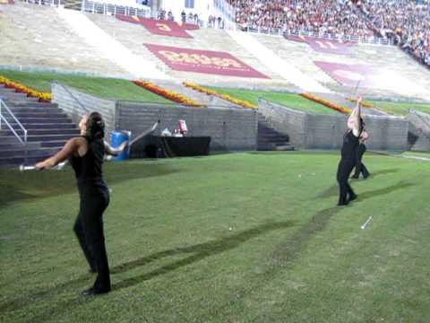 2010 USC Trojan Marching Band Homecoming,  Alumni Band Twirler