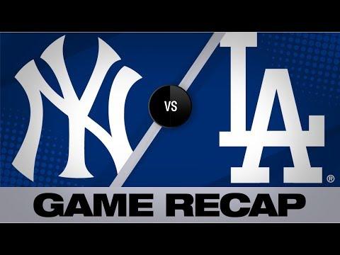 Gregorius' grand slam, 2 homers lead Yankees | Yankees-Dodgers Game Highlights 8/23/19