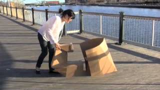 Foldable Cardboard Chair & Desk
