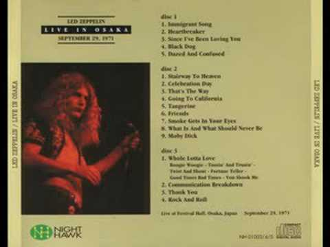 Led Zeppelin - Celebration Day (Osaka 1971) - YouTube
