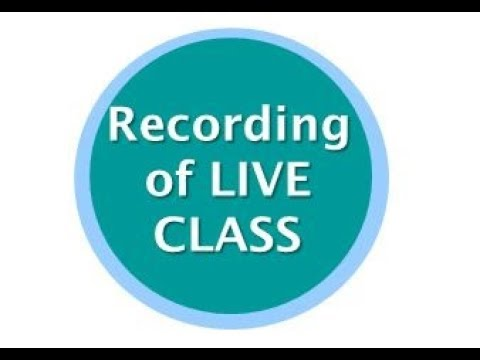 Recording of JAIIB-Accounts CAIIB-ABM LIVE CLASS of 18th Mar 2018
