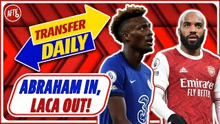 Abraham In, Lacazette Out! | AFTV Transfer Daily LIVE