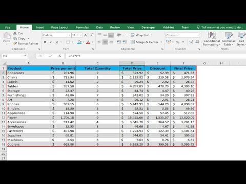 Shading alternate rows dynamically to improve readability in Excel