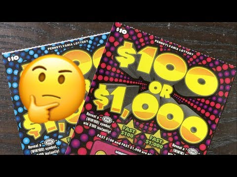 $100 OR $1000 (YOU SAY?! 😜) Pennsylvania Lottery Scratch Off Tickets