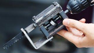 DIY Tool Idea || Make A Drill Powered Saw