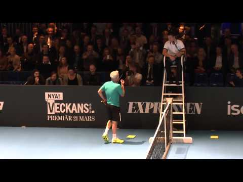 John McEnroe vs Mats Wilander: Great Tennis Entertainment-You cannot be serious 2013!