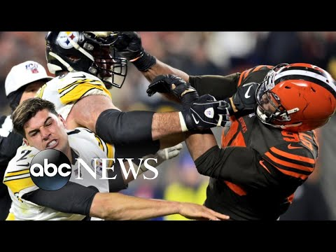 New details on the brawl between NFL players Myles Garrett and Mason Rudolph