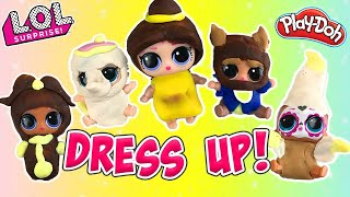 LOL Surprise Dolls Lil Sisters Dress Up Contest! W Daring Diva and Play-Doh!   LOL Dolls Families