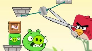 Angry Birds Pigs Out - RED BIRD MAD AT PIGGIES! STOP STEALING EGG