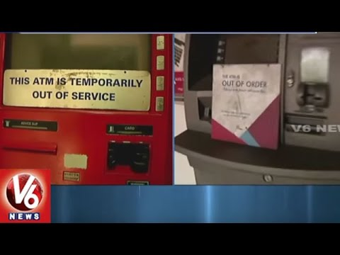 Hyderabad City People Fires On Bank Managements | ATM Centers Close | V6 News
