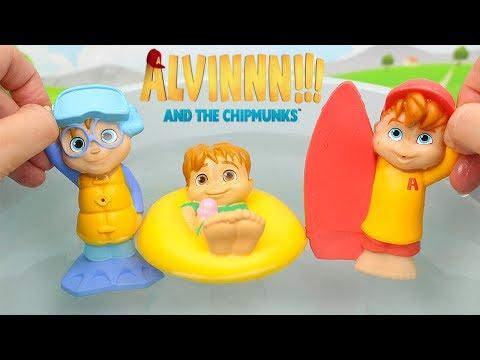 Alvin e i chipmunks le figurine per il bagno [apertura giochi in