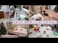 EXTREME CLEAN WITH ME | NEW YEAR CLEANING MOTIVATION! | Realistic Messy House