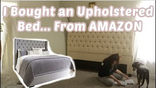 Upholstered Amazon Bed Unboxing & Putting Together