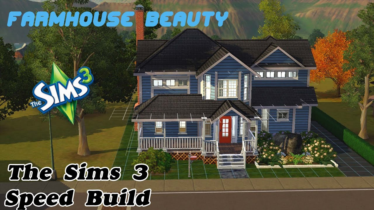Farmhouse beauty the sims 3 speed build 11