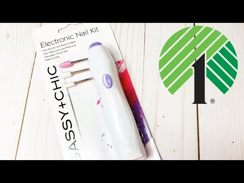 DOLLAR TREE PRODUCT REVIEW: ELECTRONIC NAIL KIT....DOES IT WORK???