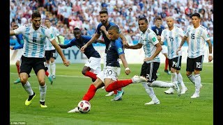MBAPPE AT THE DOUBLE FRANCE BEAT ARGENTINA  - WORLD CUP 2018