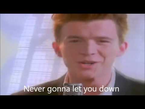 never gonna give you up lyrics rick astley youtube