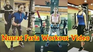 Nusrat faria gym workout video | bangladeshi actress nusraat faria fitness exercise secret video